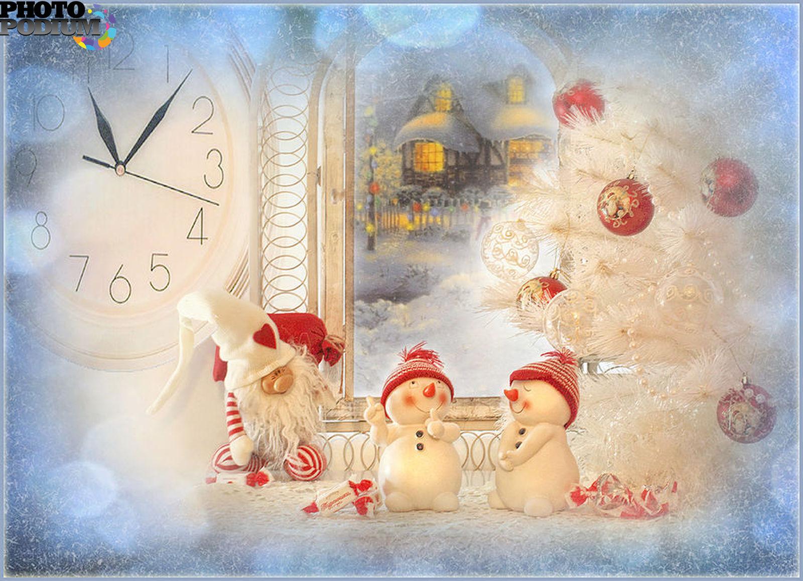 Красивые открытки на новый год и рождество