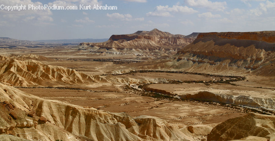 Desert, Outdoors, Mining, Plateau, Nature, Landscape, Scenery