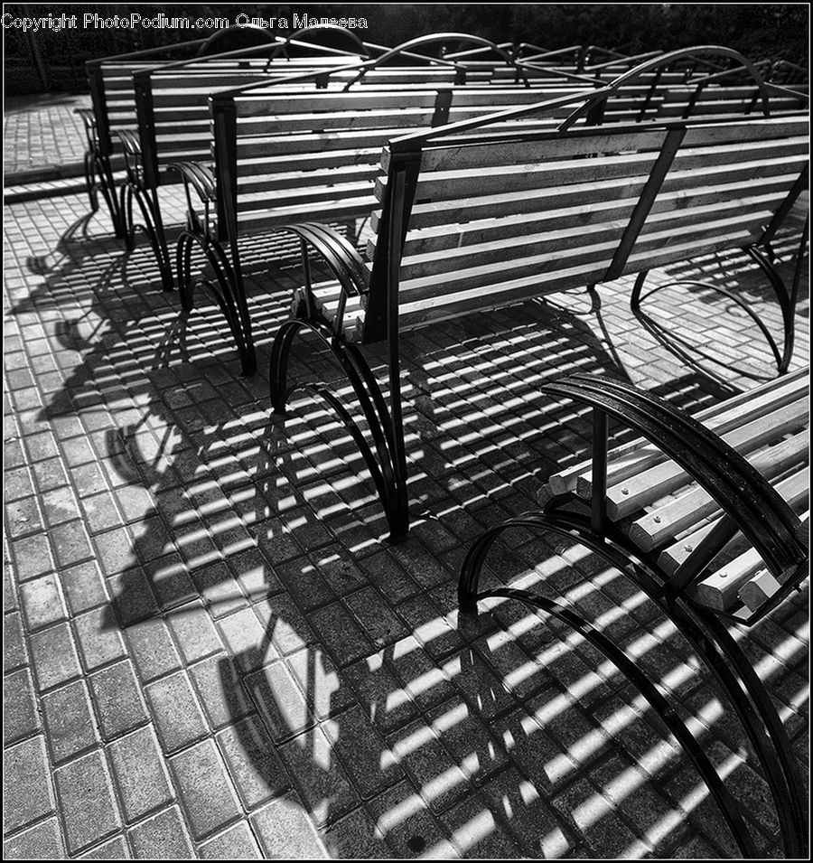 Chair, Furniture, Bench, City, Downtown, Urban