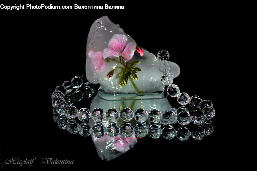 Glass, Accessories, Blossom, Flora, Flower, Plant, Crystal