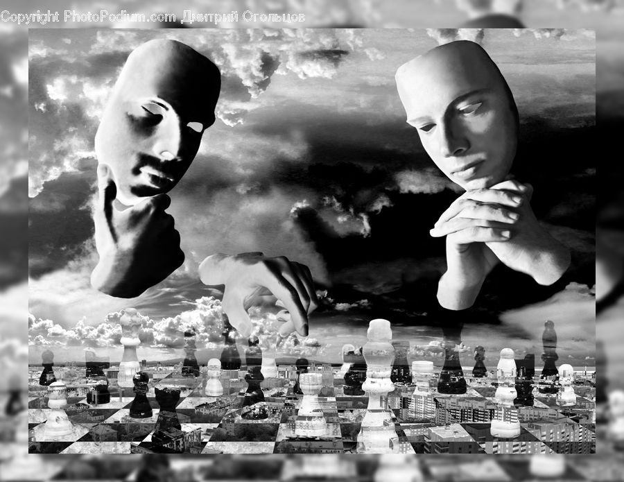 Chess, Game, Collage, Poster, People, Person, Human