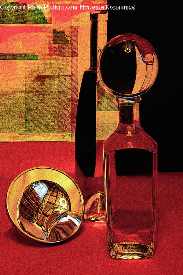 Collage, Poster, Carpet, Home Decor, Bottle, Glass, Perfume