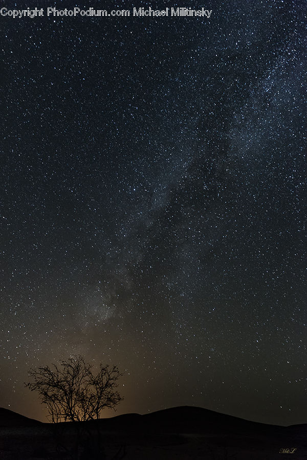 Galaxy, Milky Way, Nebula, Night, Outdoors, Outer Space, Universe