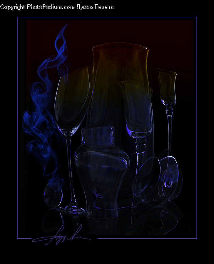 Glass, Goblet, Art, Modern Art, Lab