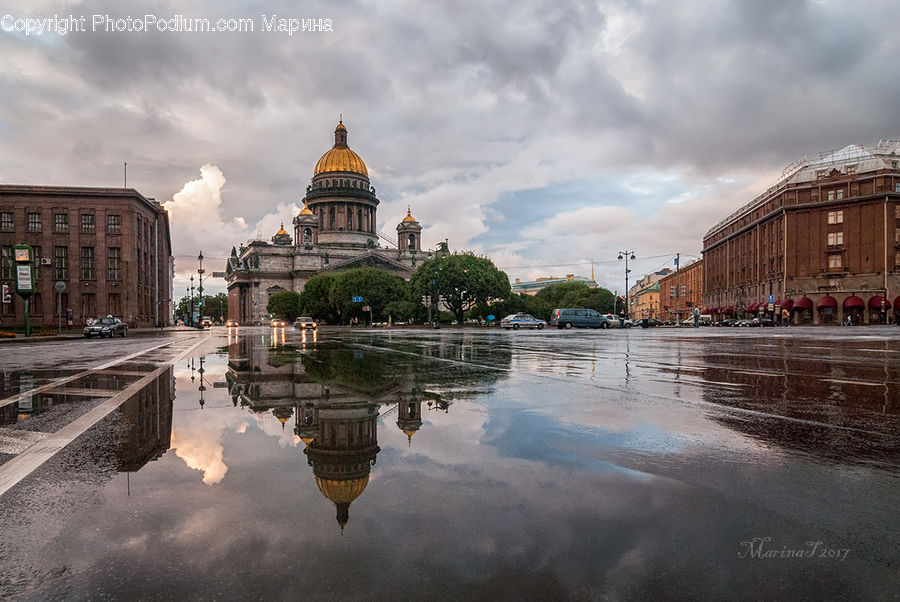 Puddle, Architecture, Cathedral, Church, Worship, Dome, Mosque