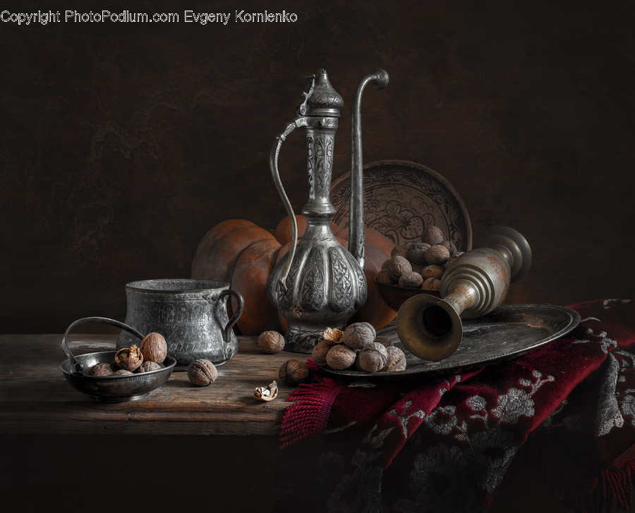 Glass, Goblet, Pottery, Pot, Flora