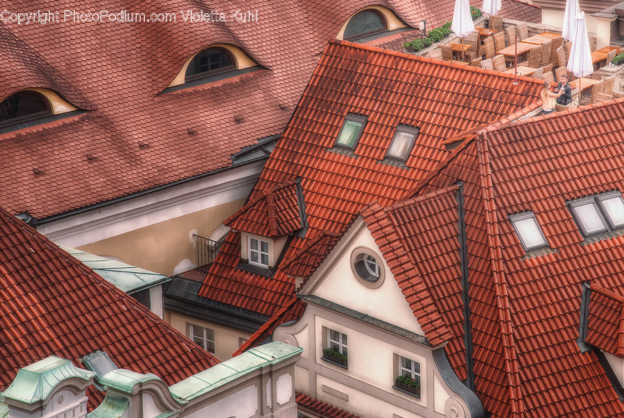 Roof, Brick, Tile Roof, Building, Balcony