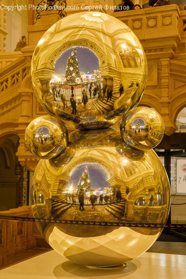 Architecture, Building, Dome, Gold, Glass