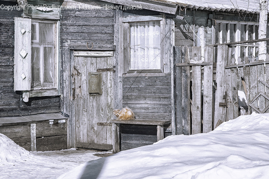 Bed, Furniture, Building, Countryside, Hut
