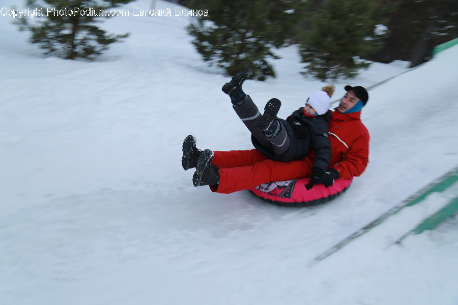 Water, Person, Human, Tubing, Sled