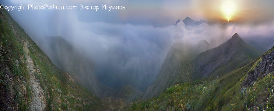 Nature, Weather, Outdoors, Fog, Mountain