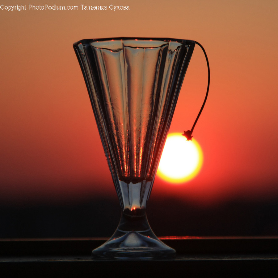Lamp, Glass, Light, Goblet, Flare
