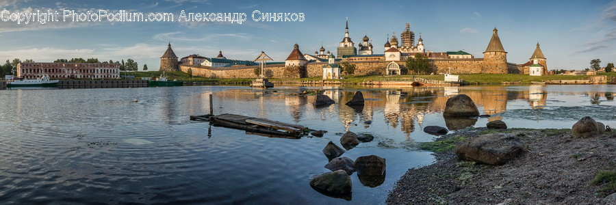 Water, Architecture, Castle, Building, Dome