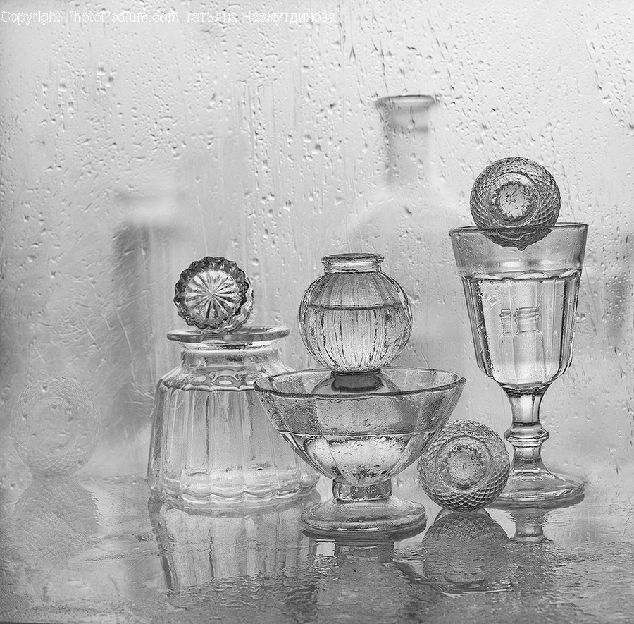 Glass, Art, Drawing, Goblet, Plant