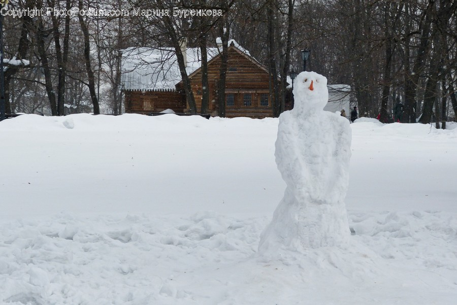 Nature, Outdoors, Snowman, Snow, Winter