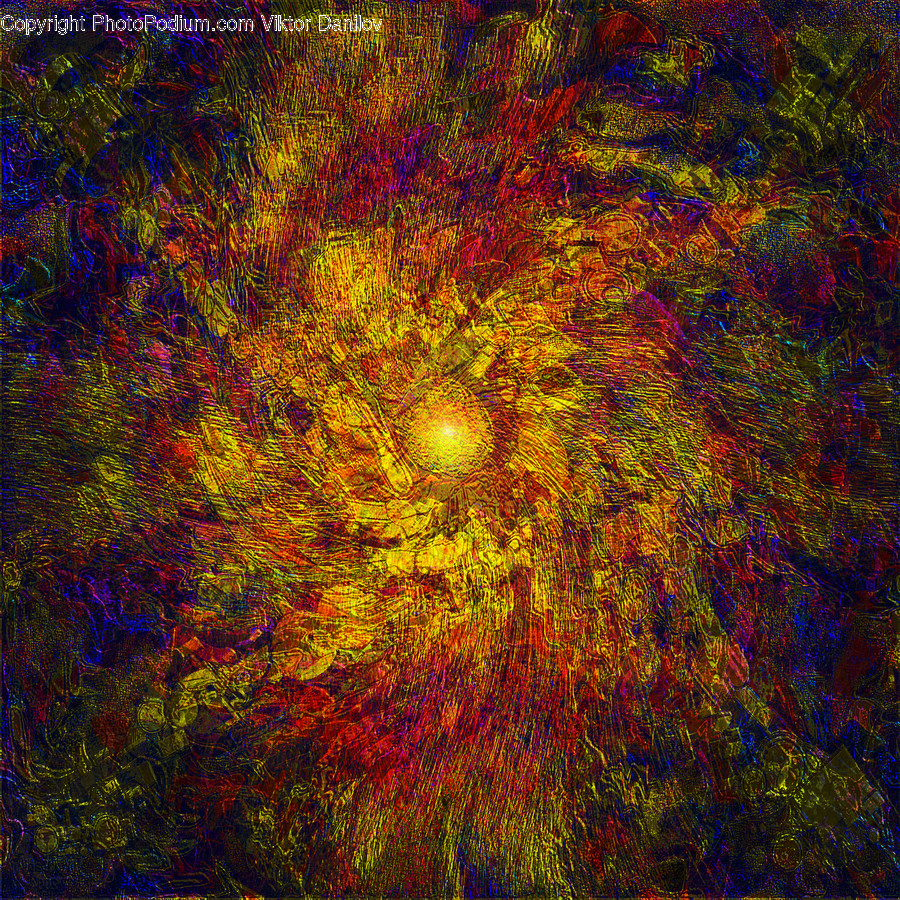 Ornament, Pattern, Fractal, Painting, Art