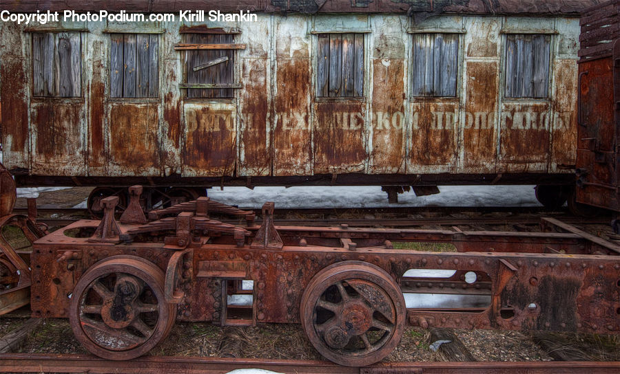 Rust, Freight Car, Shipping Container, Vehicle, Car, Wagon, Lathe