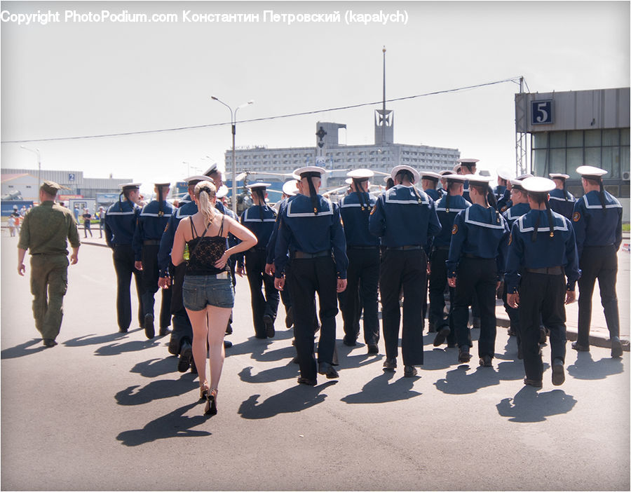 People, Person, Human, Officer, Police, Crowd, Coast Guard
