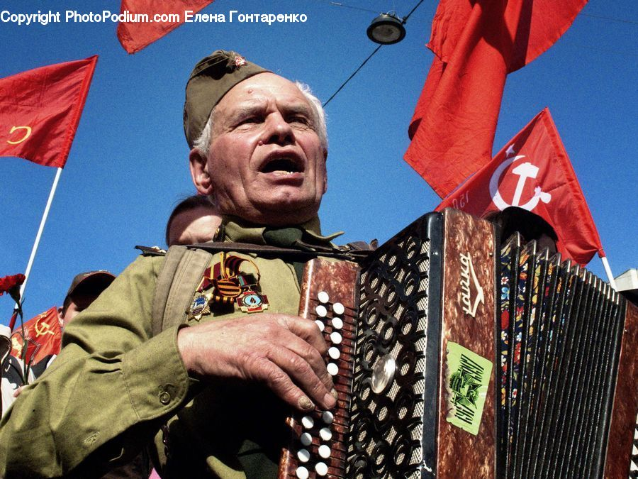 People, Person, Human, Accordion, Musical Instrument, Crowd, Parade