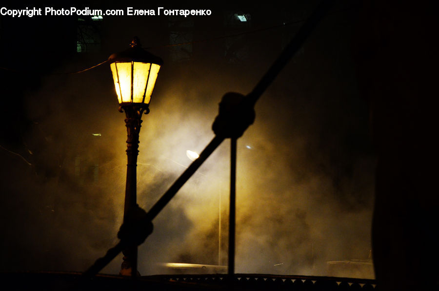 Lamp Post, Pole, Silhouette, Lamp, Lampshade, Table Lamp, Lantern