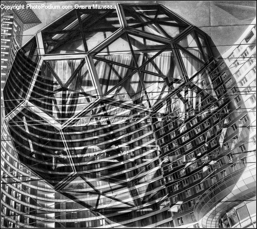 Sphere, Architecture, City, Downtown, High Rise, Skyscraper, Urban