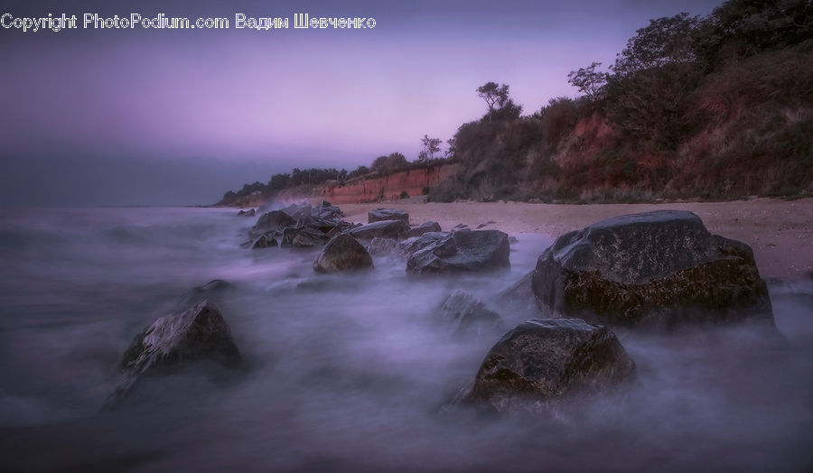 Coast, Outdoors, Sea, Water, Rock, Storm, Weather