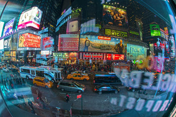 Times Square. Reflection.