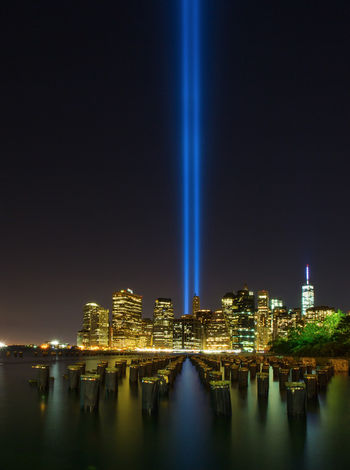 Tribute in Light. Downtown New York City